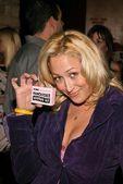 Jennifer Blanc proudly displays her Mancatcher Voodoo Kit — Stock Photo