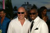 Bruce Willis and Sean Combs — Stock Photo