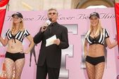 Aubrey Lemon, Michael Buffer and Tabitha Taylor — Stock Photo