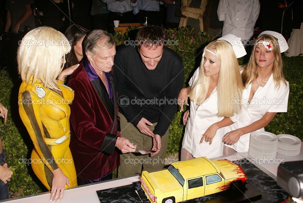 Hugh Hefner and Quentin Tarantino     Stock Editorial Photo   169  s