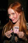 Phoebe Price proudly displays her Mancatcher Voodoo Kit — Stock Photo