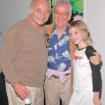 Burt Young with Director John Avildsen and his daughter Bridget — Stock Photo #17297311