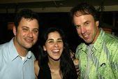 Jimmy Kimmel, Sarah Silverman and Kevin Nealon — Stock Photo