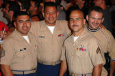 Marines attending the show — Foto de Stock