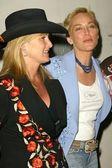 Kelly Stone Singer and Sharon Stone — Stock Photo