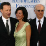 Постер, плакат: Tom Hanks Larry David and wife Laurie