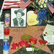 A wreath of flowers and fan tributes to former President Ronald Reagan — Lizenzfreies Foto