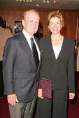 George Stevens Jr. and Annette Bening — Stock Photo