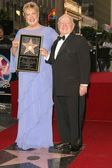 Jan and Mickey Rooney Star on the Hollywood Walk of Fame — Stock Photo