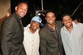 Will Smtih, Lahmard Tate, Larenz Tate and Tony Tate — Stock Photo