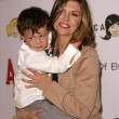 Finola Hughes and son Dylan — Stock Photo