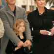 Постер, плакат: Antonio Banderas with Melanie Griffith and Stella Banderas