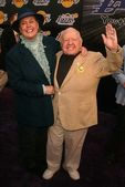 Mickey Rooney and wife Jan — Stock Photo