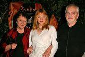 Andrea evans i rodziców — Zdjęcie stockowe