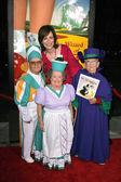 Clarence Swenson and Jane Kaczmarek with Margaret Pellegrini and Meinhardt Raabe — Stock Photo