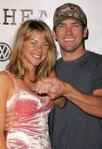 Lucas Black and fiancee Maggie — Stock Photo