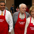 Antonio Villaraigosa with Kirk Douglas and Anne Douglas - Stock Photo