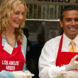 Daryl Hannah and Antonio Villaraigosa - Stock Photo