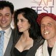 Jimmy Kimmel with Sarah Silverman and Bobcat Goldthwait - Стоковая фотография