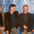 Постер, плакат: Paul Haggis and George Clooney with Steven Spielberg and Ang Lee