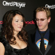 Royalty-Free Stock Photo: Jennifer Tilly and Phil Laak at the Card Players Player of the Year Awards presented by BoDog.com. The Music Box, Hollywood, CA 02-15-06