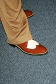 Johnny Depp's Shoe — Stock Photo
