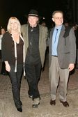 Pegi Young with Neil Young and Jonathan Demme — Stock Photo