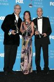 Mark R. Harris with Cathy Schulman and Bob Yari at the 37th Annual NAACP Image Awards. Shrine Auditorium, Los Angeles, CA. 02-25-06 — Stock Photo