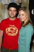 Joshua Jackson and Rachel Boston at A Special Luncheon Tribute to David LaChapelles Documentary Rize. House of Flaunt, Los Angeles, CA. 03-03-06 — Stock Photo