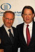 Steven Spielberg and Tom Hanks at the Unforgettable Evening Benefit for EIFs Woman Cancer Research Fund. Regent Beverly Wilshire Hotel, Beverly Hills, CA. 03-01-06 — Stock Photo