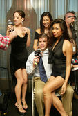 Richard Martin at a live taping of the Adam Carolla Radio Show. Ghost Bar, Palms Hotel, Las Vegas, NV. 03-09-06 — 图库照片