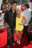 Michael Copon and Cassie Scerbo — Stock Photo