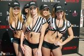 Referees Jerilee Villanueva, Tabitha Taylor, Julia Spragg, Holly Lei and Natalie Matthews — Stock Photo