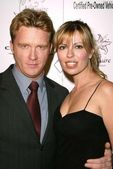 Anthony Michael Hall and Sandra Girard — Stock Photo