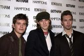 Zack Hanson, Taylor Hanson and Isaac Hanson — Stock Photo
