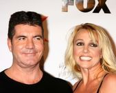 Simon Cowell, Britney Spears at The X-Factor Viewing Party, Mixology, Los Angeles, CA 12-06-12 — Stock Photo