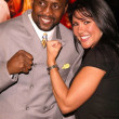 "Thomas ""Hitman"" Hearns and Mia St. John — Stock Photo"