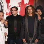 Graffiti Artists Eder, Axis, Jiah and Kofie — Stock Photo
