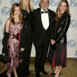 Dino De Laurentiis, wife Martha and daugthers Dina and Carolyna — Stock Photo