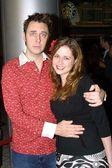 Screenwriter James Gunn and wife — Stock Photo