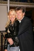 Linda Thompson and David Foster — Stock Photo