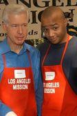 Gray Davis and Donald Faison — Stock Photo