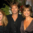 Wendy Woods, Harry Hamlin and Lisa Rinna — Stock Photo