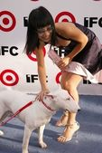 Bai Ling and Buddy — Stock Photo