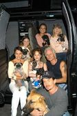Celebrity Guests with new Animal News Van — Stock Photo