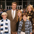 John Schneider and family — Stock Photo