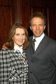 Jerry Bruckheimer with wife Linda — Stock Photo