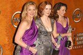 Kim Cattrall, Cynthia Nixon and Kristin Davis — Stock Photo