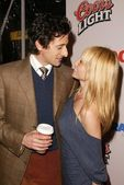 Adrien Brody and girlfriend Michelle Dupont — Stock Photo