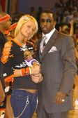 Paris Hilton and Sean 'P Diddy' Combs — Stock Photo